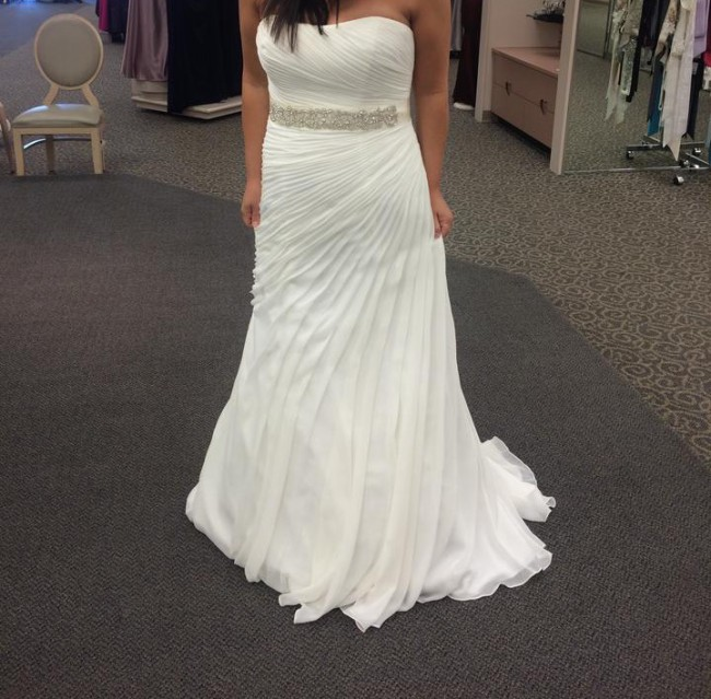 ff52d87c4716 David's Bridal V3540 New Wedding Dress on Sale 14% Off - Stillwhite ...