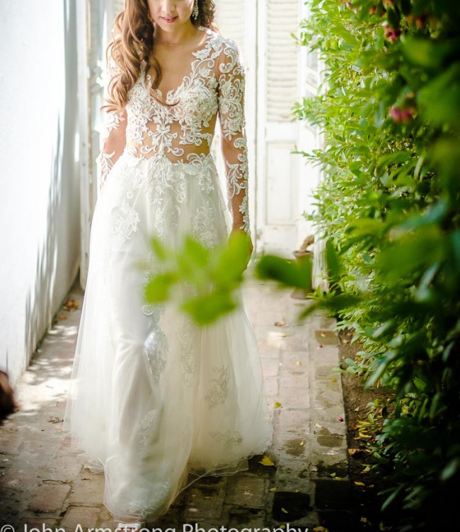 Howard Green Couture Custom Made Preowned Wedding Dress On Sale 57