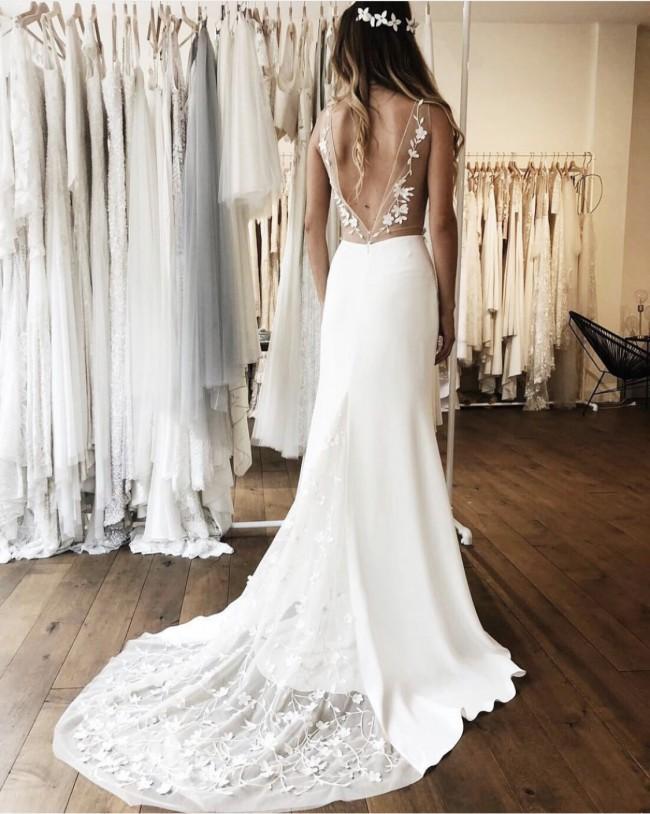 d3579e8c76ef Alexandra Grecco Stevie New Wedding Dress on Sale 27% Off ...
