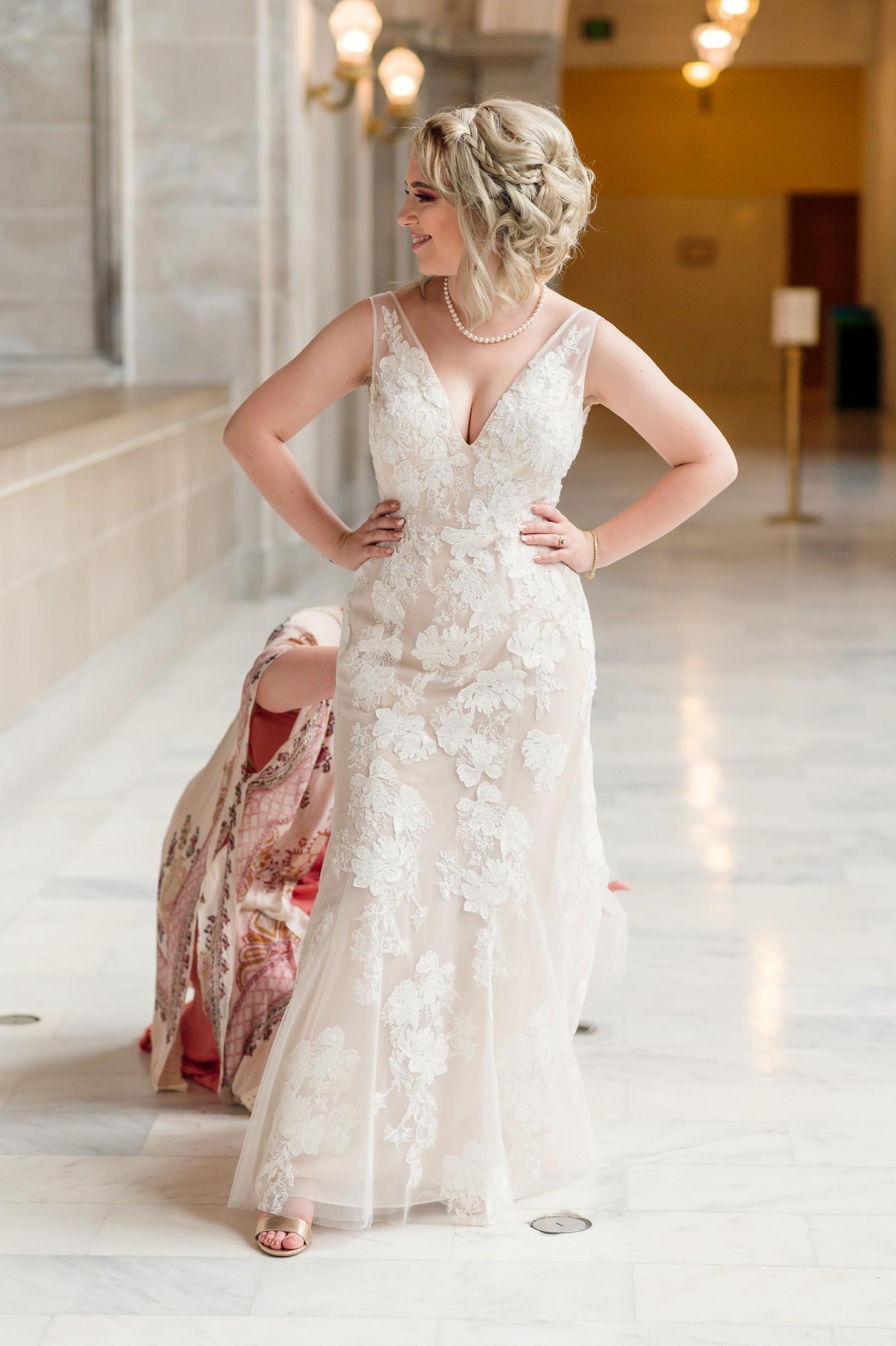 Melissa Sweet Wedding Dress With Plunging Neckline Online Sale, UP ...