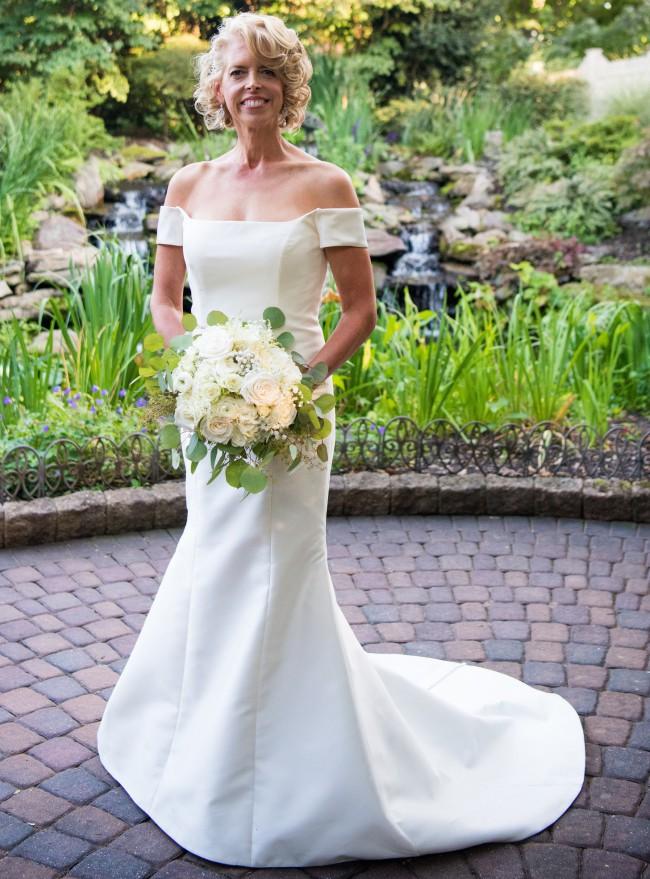 Carolina Herrera 7826 off-shoulder trumpet gown