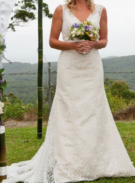 David's Bridal Beach wedding dress