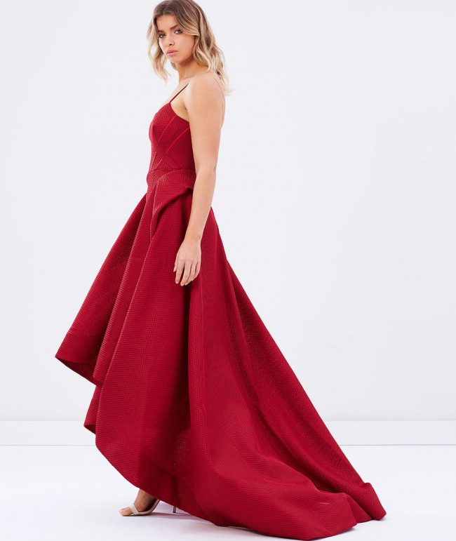 Bariano Viola Strapless Ball Gown
