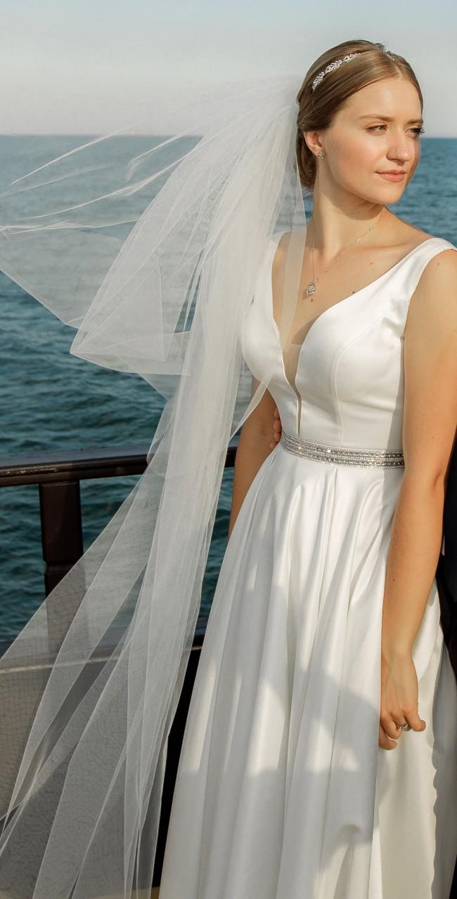 Nora Naviano A-line Satin Dress