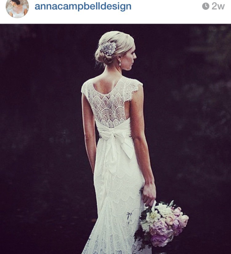 Anna Campbell Wedding Gowns: Anna Campbell Isobelle Preloved Wedding Dress On Sale 55