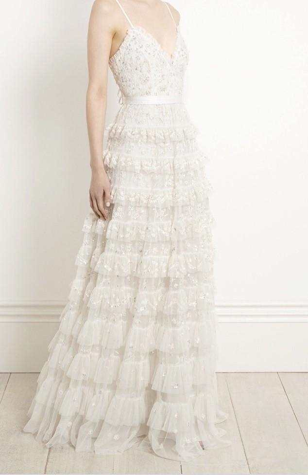 Needle & Thread Marie dress in ivory