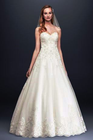 David's Bridal, Beaded Ball Gown 12180035