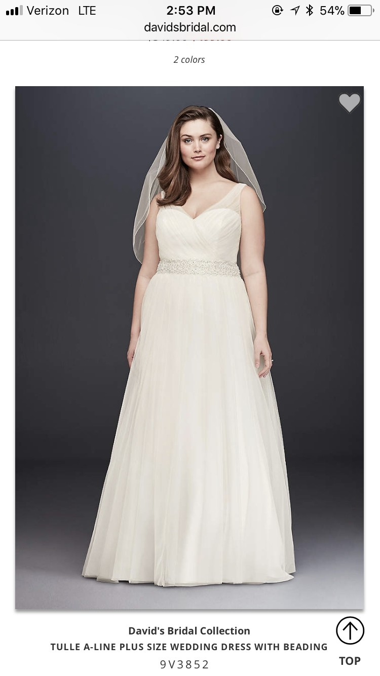 David\'s Bridal 9v3852 Wedding Dress On Sale - 39% Off
