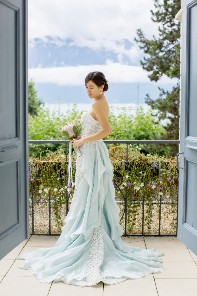Oscar De La Renta Wedding Dress Blue Fashion Dresses