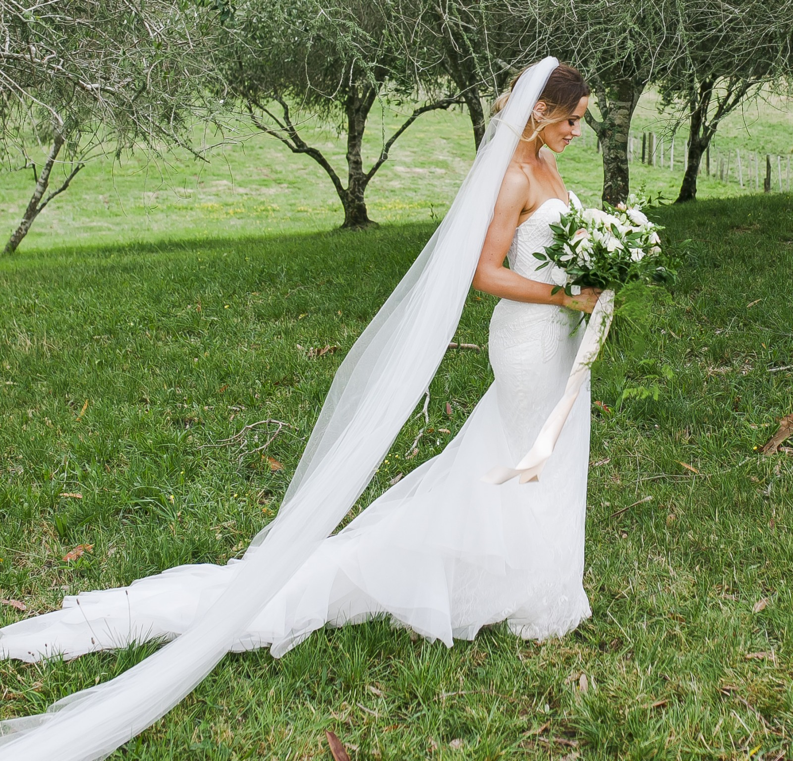 f2e96b5f847 John Zimmerman Custom Made Preowned Wedding Dress on Sale 50% Off -  Stillwhite