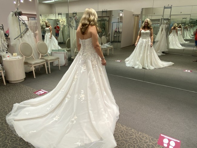 David's Bridal 9V3902 Ivy Sand Floral Lace Appliqué