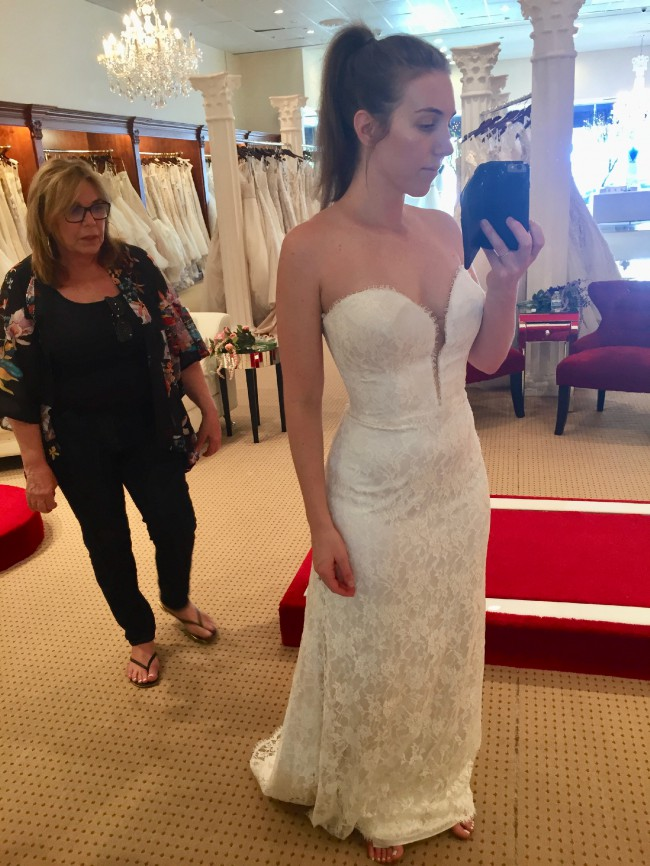 Paloma Blanca Sample Dress
