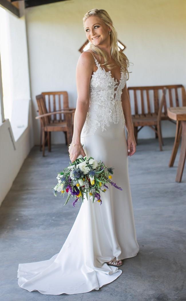 Kobus Dippenaar, Custom made - bodice Caroline, skirt Annocha, with