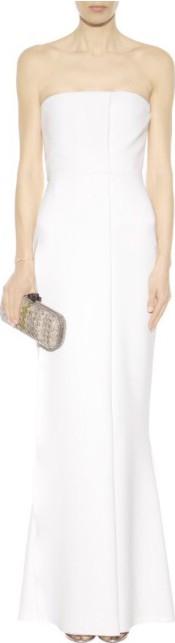 Victoria Beckham White Gown