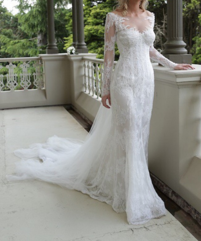 628674696c9 Steven Khalil Custom Made Preowned Wedding Dress on Sale 54% Off ...