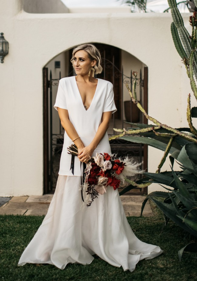 The Law Bridal Grey gown