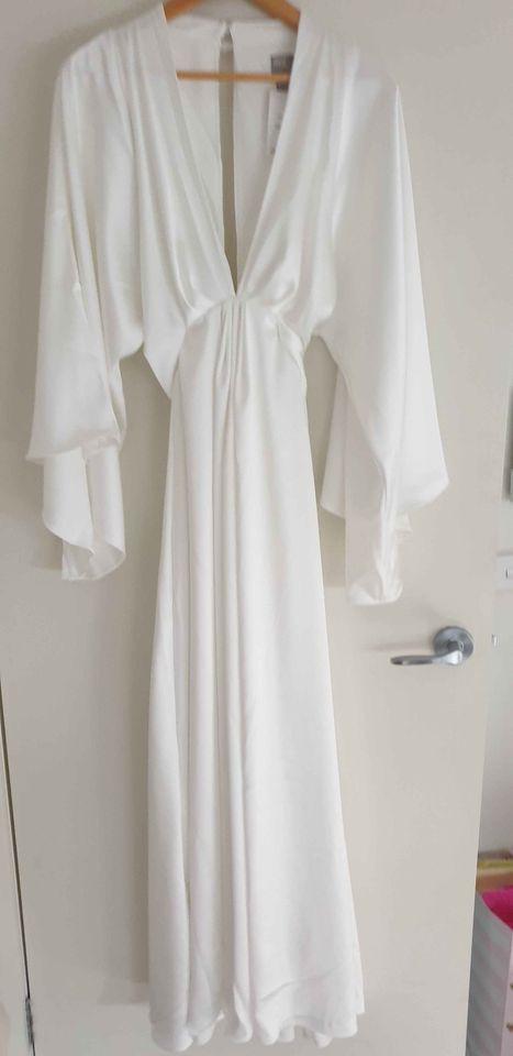 ASOS Bridal ASOS EDITION extreme cape sleeve maxi wedding dres