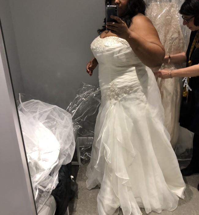 60758eb8c05 David s Bridal Collection 9wg3807 New Wedding Dress on Sale 38% Off ...