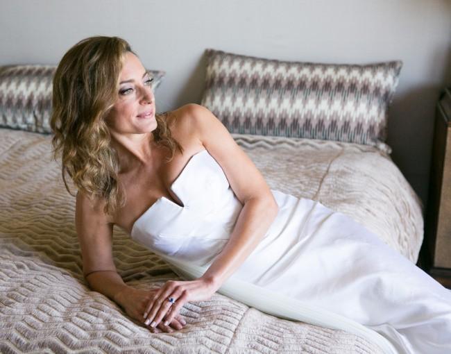 Nicole Miller, Nicole Miller Embellished Silk Strapless Bridal Go