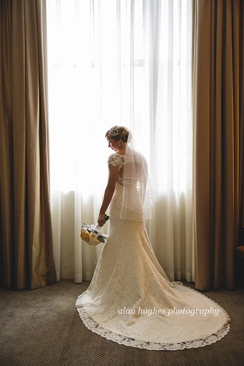 Augusta Jones Anita gown with custom sweetheart neckline, cap sl