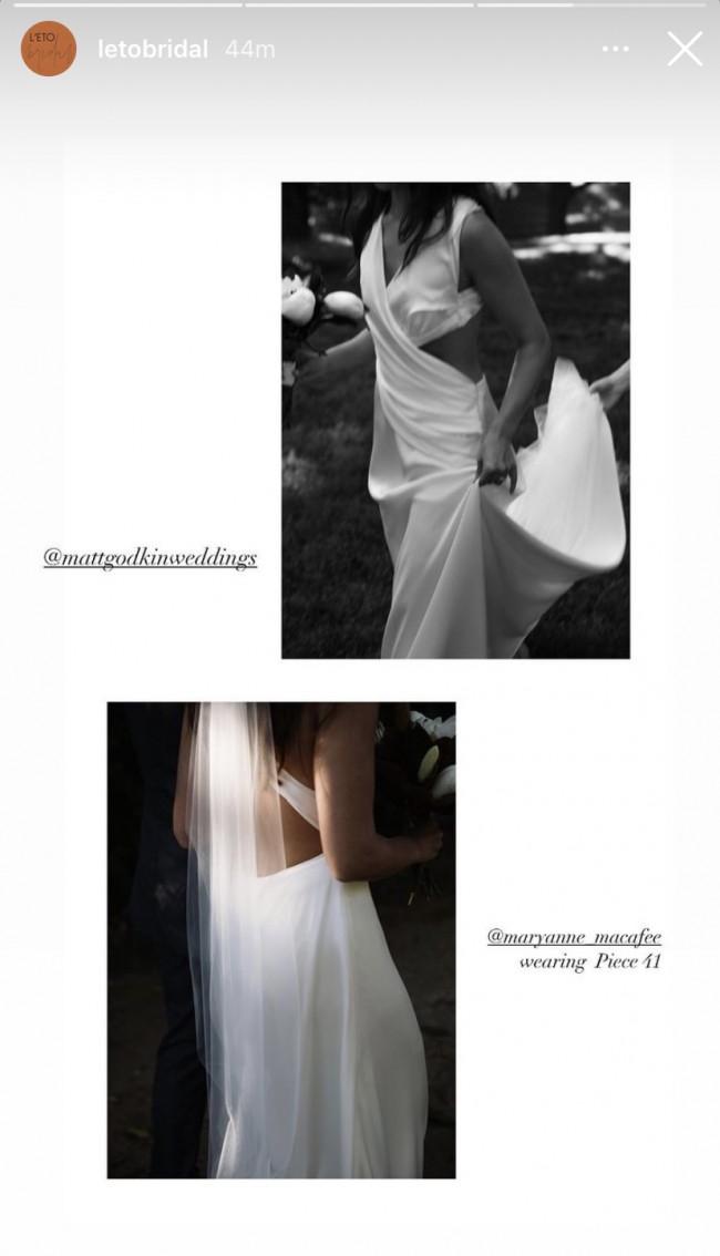 L'eto Bridal Piece 41 FLOW collection