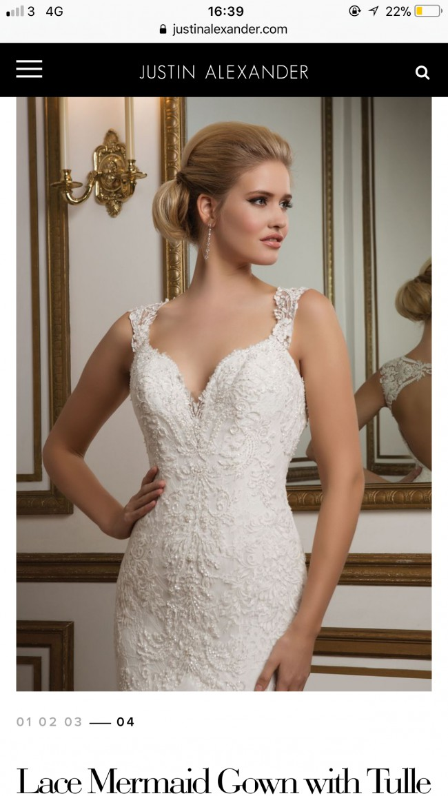 13bde7537 Justin Alexander Style 8827 Second Hand Wedding Dress on Sale 73 ...