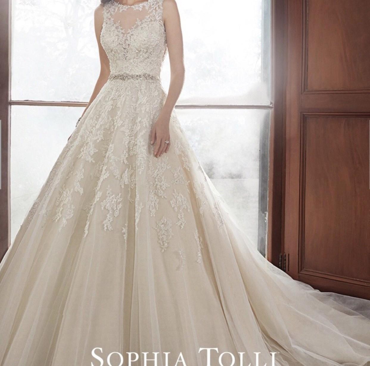 Sophia Tolli Carson-Y21520 New Wedding Dress On Sale 69