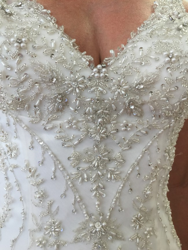 Justin Alexander 8753 Fully Beaded Tulle with Charmeuse Lining