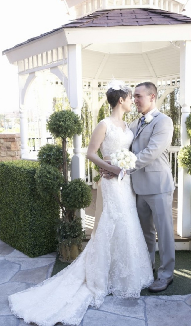 Justin Alexander Queen Anne Venice Lace and Organza Gown 8656
