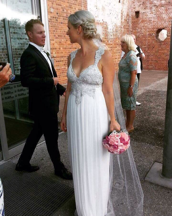 Anna Campbell Wedding Gowns: Modified Used Wedding Dress On