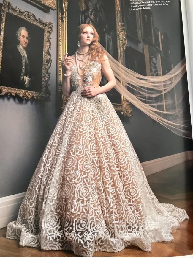 Eliza French Custom Made Wedding Dress On Sale - 38% Off