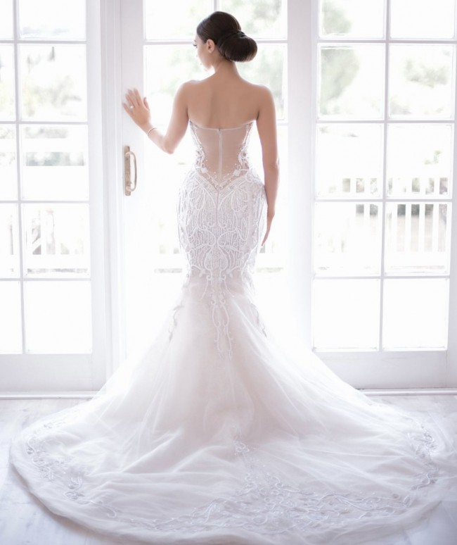 Ines Di Santo Bella with a detachable ball gown skirt