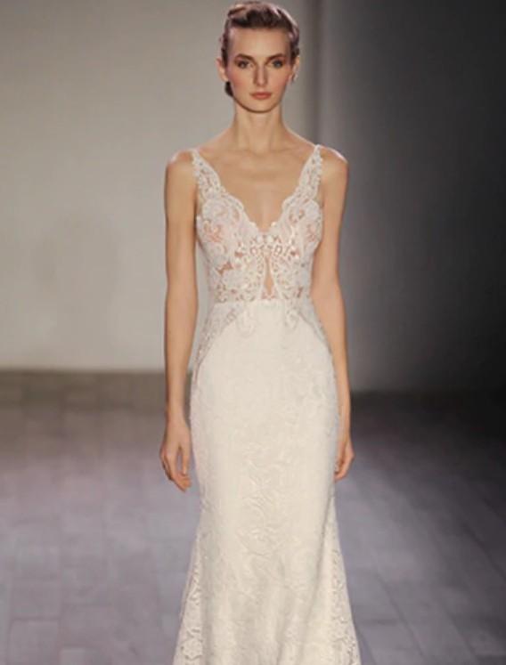 Lazaro Lazaro - Ivory venise lace trumpet bridal gown