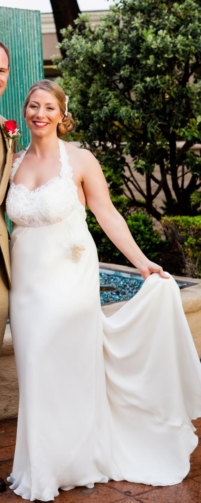 Hanna Hartnell Couture Halter Hollywood Glamour Custom Wedding Go