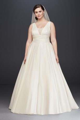 David's Bridal, Satin Cummerbund Plus Size, 9V3848