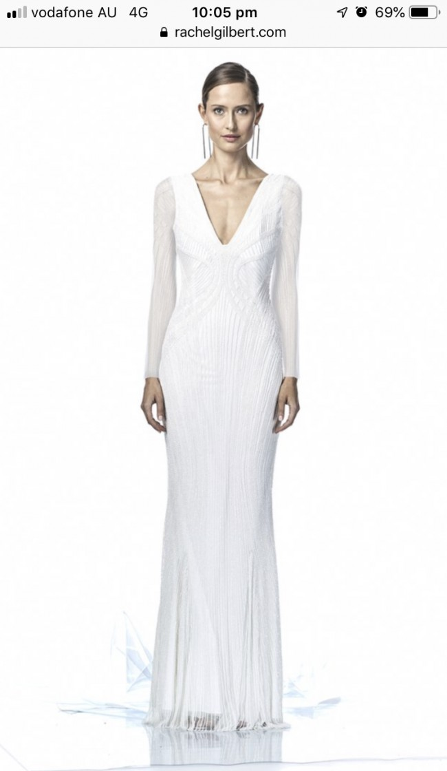 Rachel Gilbert Lyla Sleeve Gown - SIZE 1 SOLD OUT AUSTRALIA WIDE