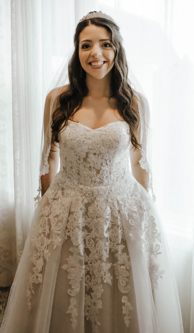 David's Bridal Sheer Lace and Tulle