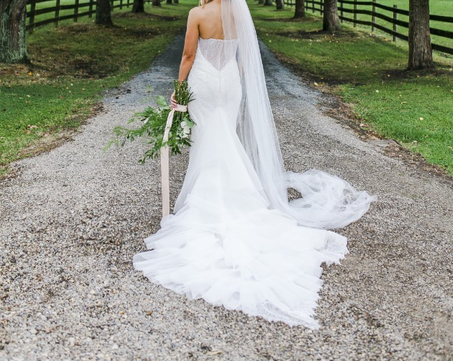 4161e447c32 John Zimmerman Custom Made Preowned Wedding Dress on Sale 50% Off ...