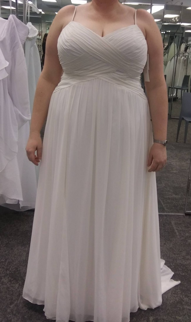 David's Bridal Collection Sweetheart Bodice Plus Size