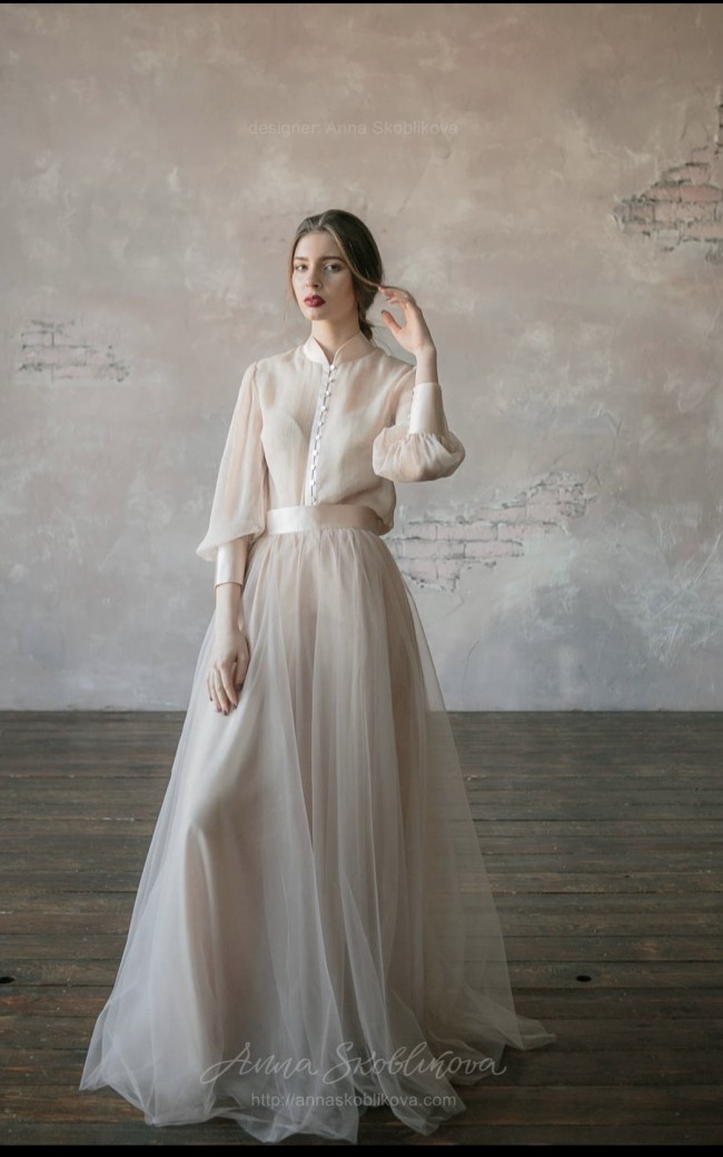 6fcc3254cb7 Anna Skoblikova Blush Vintage Wedding Dress - two piece (Custom ma ...