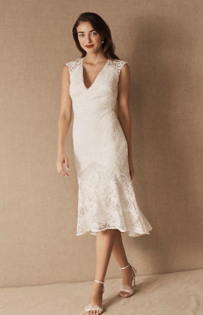 Monique Lhuillier ML Lorre Cap Sleeve Dress