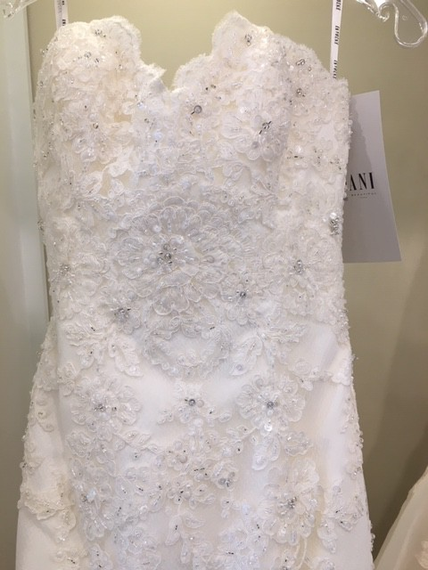 Enzoani, Beaded Lace Fit & Flare Gown with Sweetheart Neckl