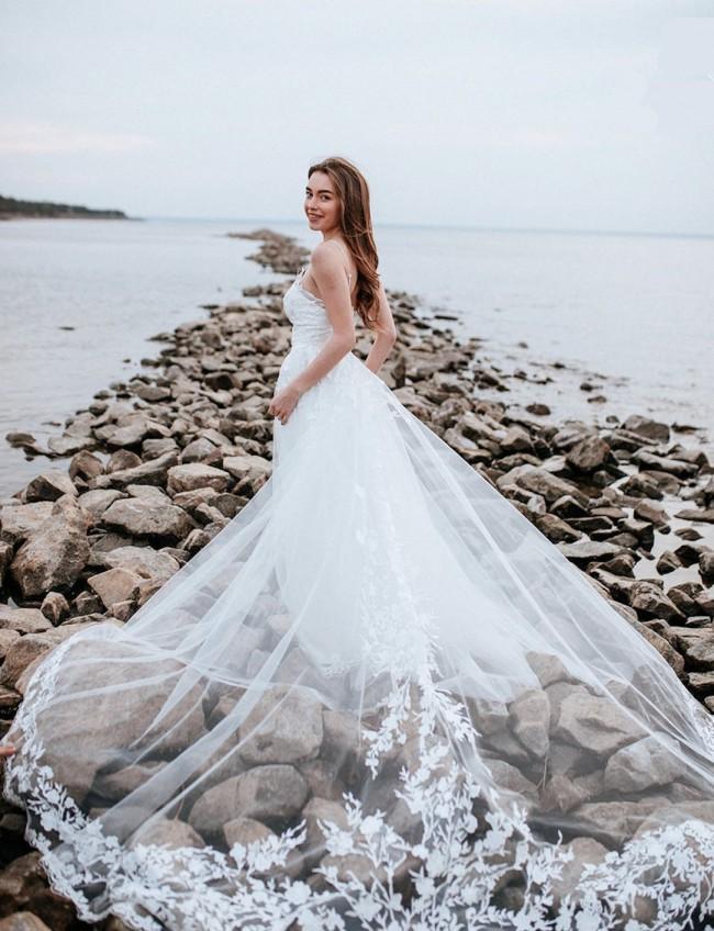 Fit & Flare Boho Dress w/ Lace Overskirt
