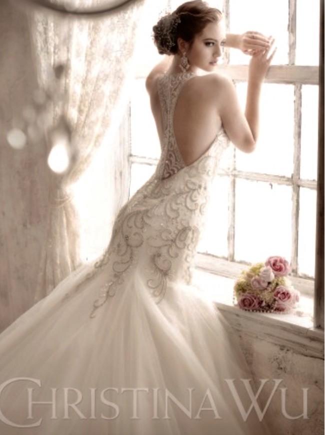 65d153fd77 Christina Wu Second Hand Wedding Dress on Sale 79% Off - Stillwhite ...