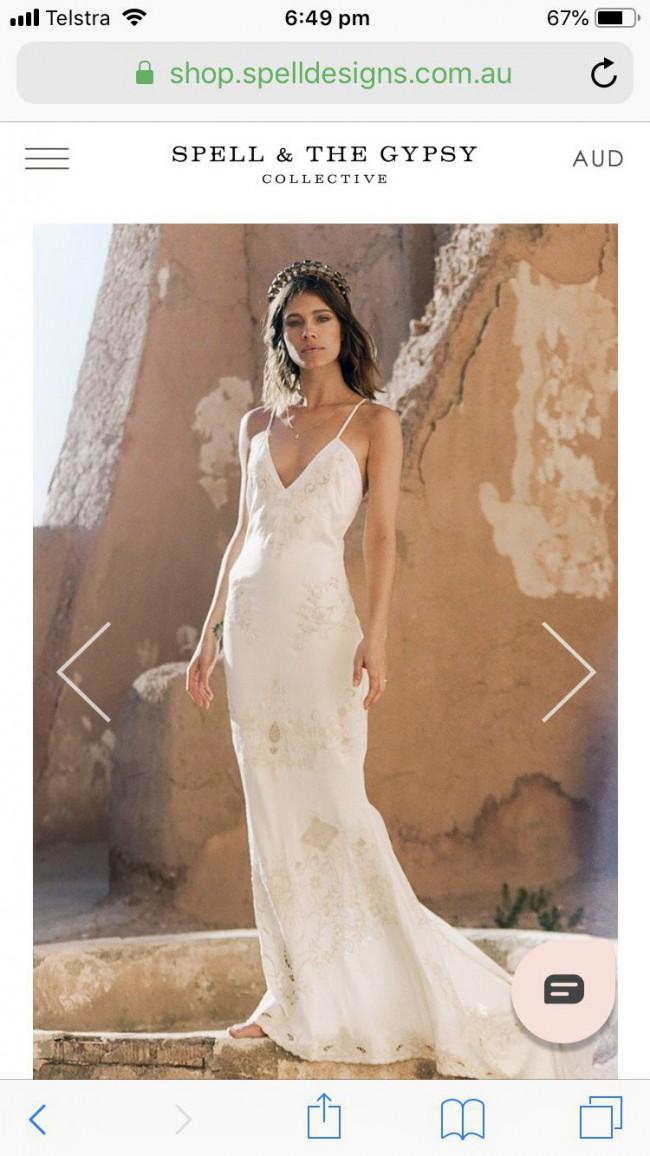 Spell Designs, Odette silk slip gown