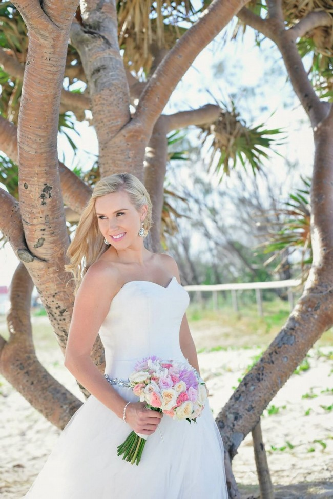 A-Line Tweed coast bridal