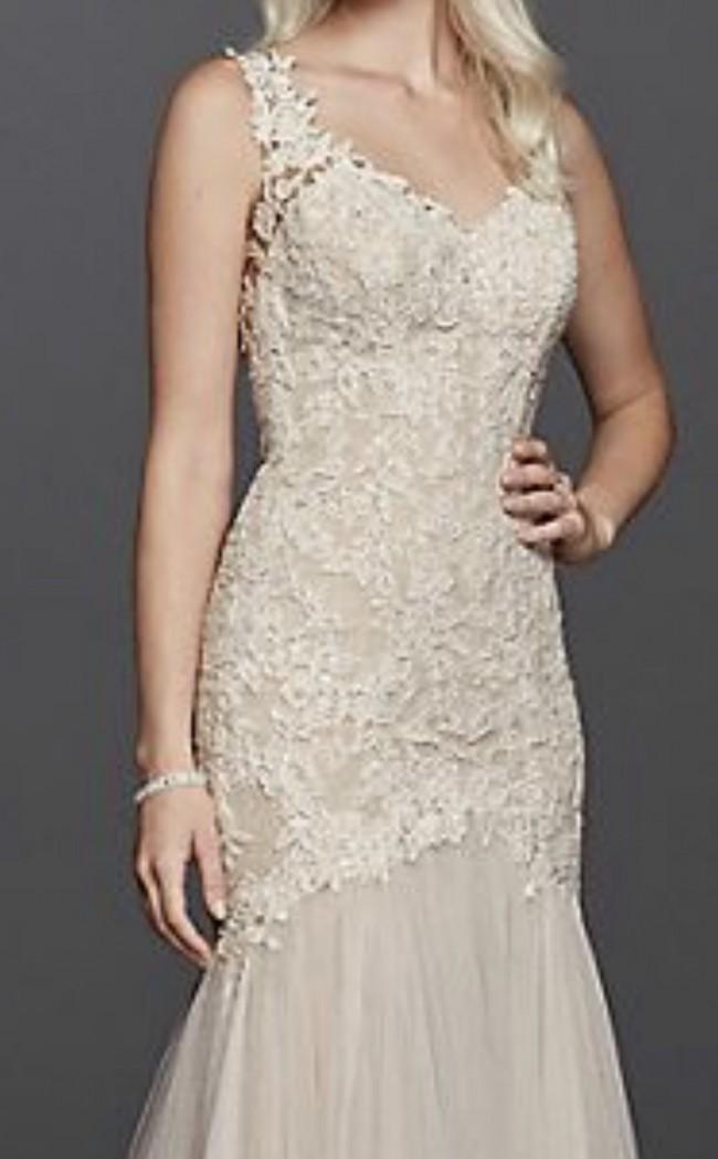 Galina Signature Beaded Venice lace trumpet wedding dress