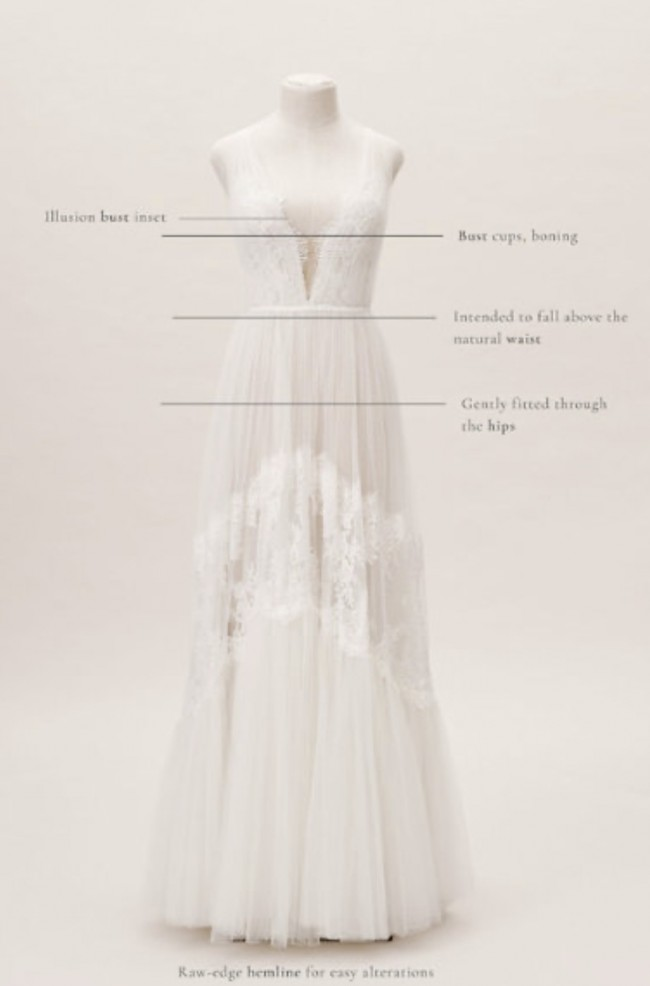 BHLDN Willowby by Watters Betony Gown