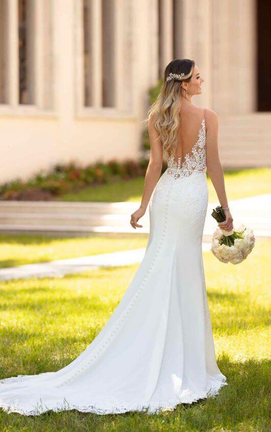 Stella York Simple and Sleek Wedding Gown 6648