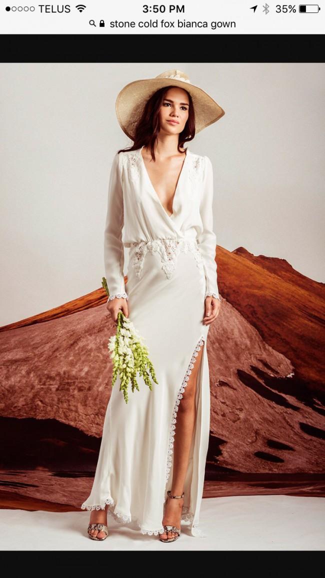 0ae20b1b3a2 Stone Cold Fox Bianca New Wedding Dress on Sale 38% Off - Stillwhite ...